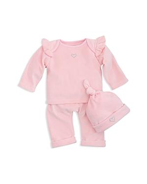 Elegant Girls Velour LongSleeve Top PullOn Pants  Hat Set  Baby
