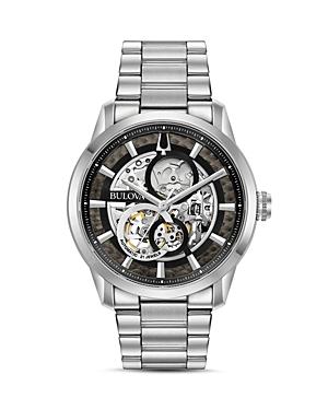 Sutton Stainless Steel Skeleton Watch
