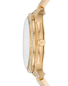 Michael Kors - Runway Gold-Tone All-Over Pavé Crystal Watch, 38mm