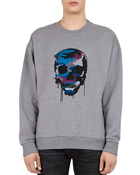 The Kooples -  Embroidered-Skull Sweatshirt