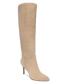 Sam Edelman - Women's Olen Pointed Toe Suede High-Heel Boots