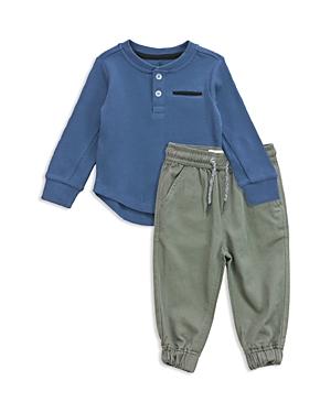 Sovereign Code Boys' Waffle-Knit Henley & Jogger Pants Set - Baby