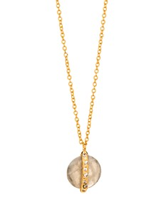 "Gorjana - Brinn Shimmer Adjustable Pendant Necklace, 18"""