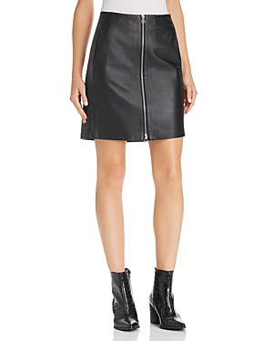 RAG & BONE RAG & BONE HEIDI ZIP-FRONT LEATHER SKIRT