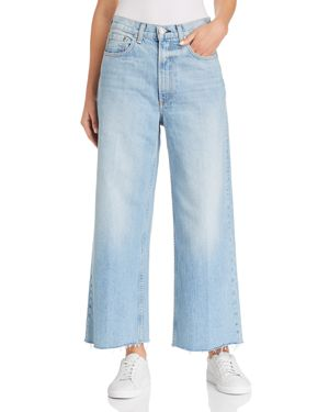 rag & bone/Jean Haru High-Rise Wide-Leg Jeans in Waves