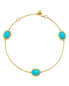 Bloomingdale's - Turquoise Station Bracelet in 14K Yellow Gold - 100% Exclusive