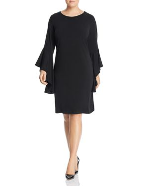 Leota Plus Stella Dramatic Sleeve Dress