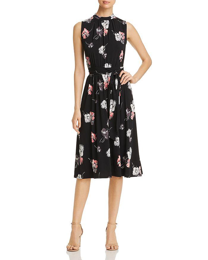 Leota - Mindy Shirred Falling Floral Print Dress