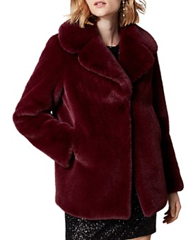 KAREN MILLEN - Relaxed Faux Fur Jacket