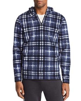 Threads 4 Thought - Plaid Hooded Fleece Sweatshirt