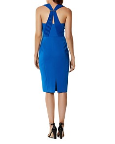 KAREN MILLEN - Pleated-Strap Corset Dress