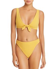 MINKPINK - Alexa Tie-Front Bikini Top & Mid-Rise Bikini Bottom