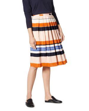 L.k. Bennett Caitlyn Striped Silk Skirt