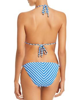 Ralph Lauren - Piqué Stripe Triangle Bikini Top & Piqué Stripe Ricky Hipster Bikini Bottom