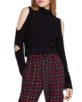 BCBGeneration - Cutout Turtleneck Cropped Sweater