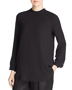 Eileen Fisher - Silk Mock-Neck Top