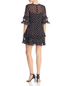 Keepsake - Ruffled Dot-Print Dress