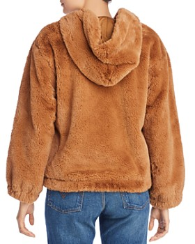 FRENCH CONNECTION - Arabella Faux-Fur Hooded Bomber Jacket