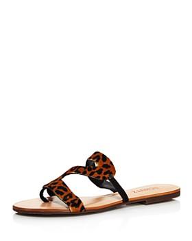 SCHUTZ - Women's Erzeli Leopard-Print Flat Sandals