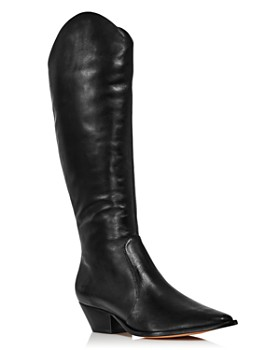 SCHUTZ - Women's Fantinne Pointed Toe Leather Western Boots