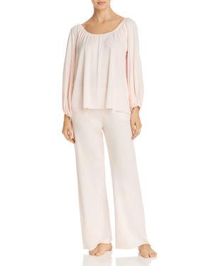 NATURAL SKIN Long Pajama Set in Pearl Pink