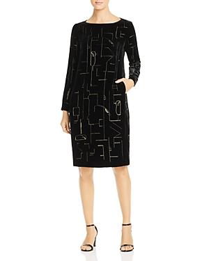Lafayette 148 New York Cressida Velvet Shift Dress