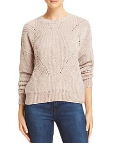 AQUA - Chenille Pointelle Sweater - 100% Exclusive