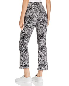 rag & bone/JEAN - Hana Flocked Cropped Flared Jeans in Gray Cheetah