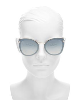 Tom Ford - Women's Mirrored Rimless Cat Eye Sunglasses, 62mm