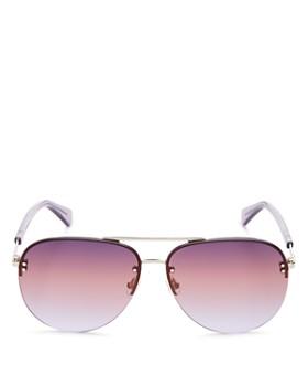 41a283439 kate spade new york - Women's Jakayla Brow Bar Rimless Aviator Sunglasses,  ...