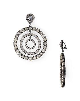 Aqua Crystal Circles Clip On Drop Earrings 100 Exclusive