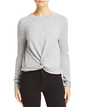 AQUA - Twist-Front Cashmere Sweater - 100% Exclusive
