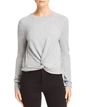 AQUA - Twist-Front Cashmere Sweater - 100% Exclusive