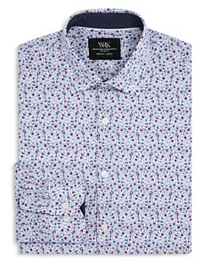 WRK - Floral Print Slim Fit Dress Shirt