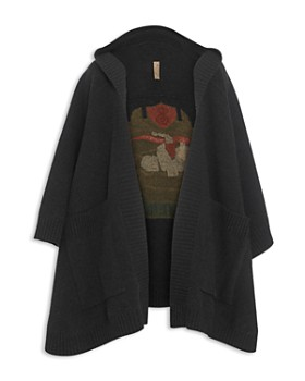 Burberry - Crest Jacquard Hooded Cape