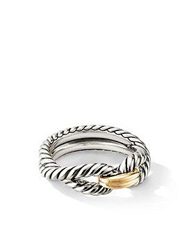 David Yurman - Cable Loop Ring with 18K Gold