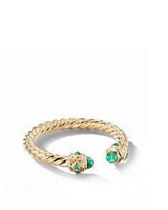 David Yurman - Renaissance Ring in 18K Yellow Gold with Emeralds