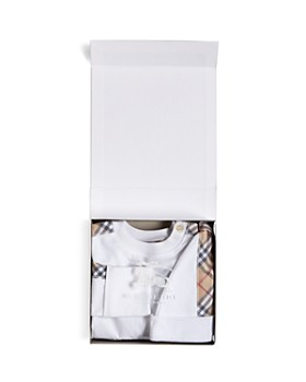 Burberry - Unisex Colby Footie, Hat & Bib Set - Baby