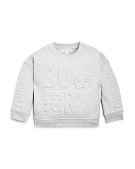 Burberry - Girls' Hank Embossed Logo Sweatshirt - Little Kid, Big Kid