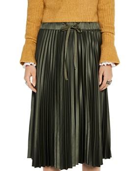Scotch & Soda - Pleated Satin Midi Skirt