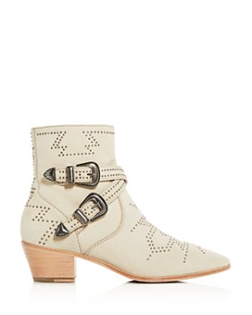 Frye - Women's Ellen Western Studded Mid-Heel Booties
