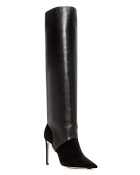 Jimmy Choo - Women's Hurley 100 Convertible Leather & Suede Over-the-Knee Boots