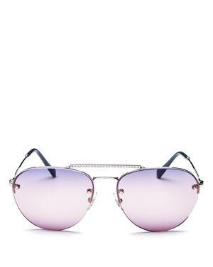 Miu Miu Women's Brow Bar Aviator Sunglasses, 59mm