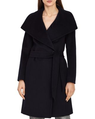 Luna Belted Wool Coat by Reiss