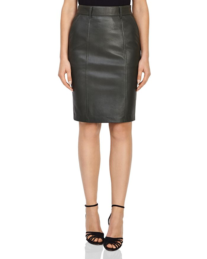8f0a252b54a988 REISS Kara Leather Pencil Skirt   Bloomingdale's