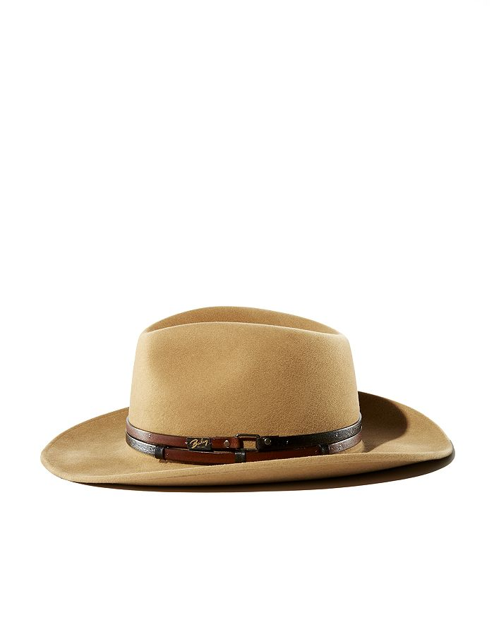 Bailey of Hollywood - Stedman Leather-Trimmed Fedora Hat