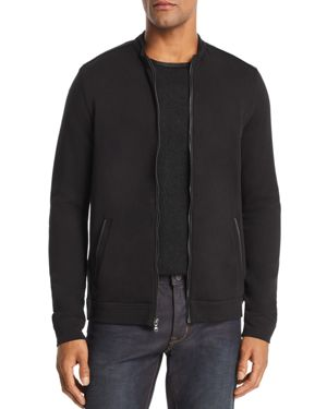 John Varvatos Star Usa Faux Leather-Trimmed Track Jacket - 100% Exclusive