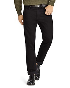 Polo Ralph Lauren - Hudson Stretch Varick Slim Straight Fit Jeans in Black