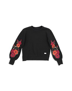 7 For All Mankind - Girls' Floral-Embroidered Sweatshirt - Big Kid