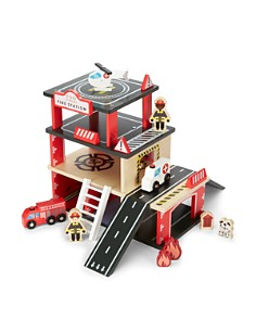 FAO Schwarz - Wooden Fire Station Set - Ages 3+